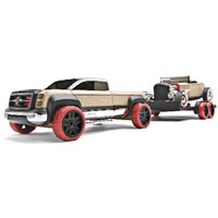 Automoblox Full Size Hot Rod Trailer Set