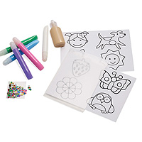 Creative Color Sticker Clings - Girl