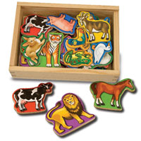 Magnetic Wooden Animals