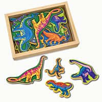 Magnetic Wooden Dinosaurs