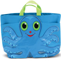 Flex Octopus Beach Tote Bag