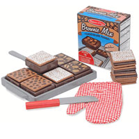 Wooden Bake and Serve Brownie Set