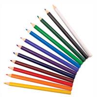 12 Jumbo Triangular Colored Pencils