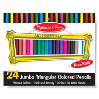 24 Jumbo Triangular Colored Pencils
