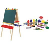 Wooden Easel & Accessories Combo Pack