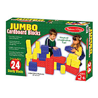 Jumbo Cardboard Blocks 24 Pcs