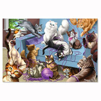 200 pc Feline Fun Jigsaw