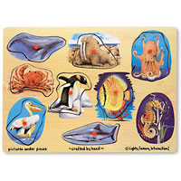 Sea Creatures Peg Puzzle