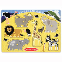 Safari Animals Peg Puzzle