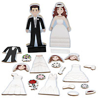 Bride & Groom Magnetic Dress-Up