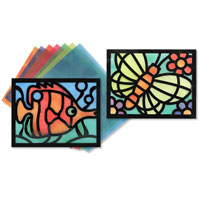 Stained Glass Paper Frame Set