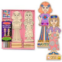 Wooden Fashion Dolls