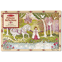 Princess Reflections - 96 piece Wooden Jigsaw Puzzle
