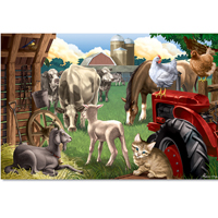 In The Barnyard - 100 piece Jigsaw Puzzle