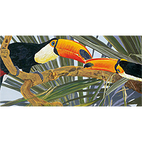Toucan Kiss - 100 piece Jigsaw Puzzle