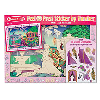 Peel & Press Sticker by Number - Fairytale Princess
