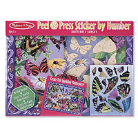 Peel & Press Sticker by Number - Butterfly Sunset