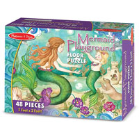 Mermaid Playground Floor Puzzle - 48 piece Floor Puzzle