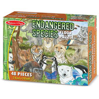 Endangered Species - 48 pc piece Floor Puzzle