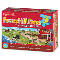 Search & Find Sunny Hill Farm Floor Puzzle - 48 piece Floor Puzzle
