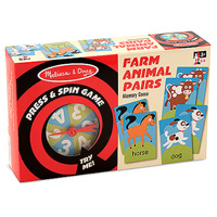 Press & Spin Game: Farm Animal Pairs