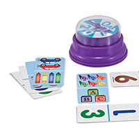 Press & Spin Game: Picture Dominoes