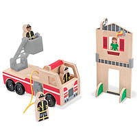 Whittle World - Fire Rescue Play Set