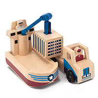 Whittle World - Cargo Ship & Truck Set
