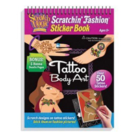 Tattoo Scratch Art Activity Pad