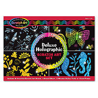 Deluxe Holographic Scratch Art Set