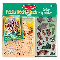 Petite Peel & Press Sticker by Number - Safari