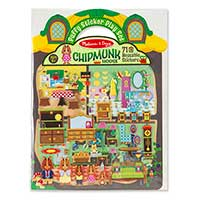 Puffy Stickers - Chipmunk House