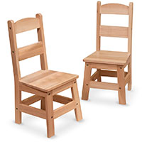 Wooden Chair Pair
