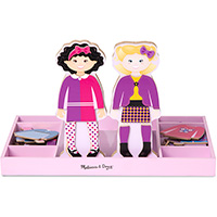 Hailey & Hannah Magnetic Dress-Up Dolls