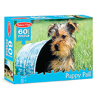 Puppy Pail Jigsaw Puzzle - 60 pc