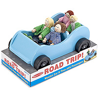 Road Trip! Wooden Car & Poseable Passengers