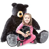 Black Bear and Cub - Large Plush