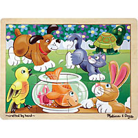 Playful Pets Wooden Jigsaw