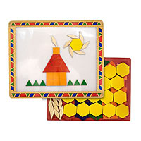 Magnetic Pattern Blocks Set