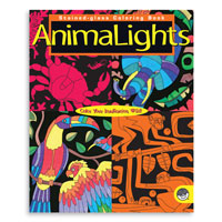 AnimaLights Stained Glass Coloring Book