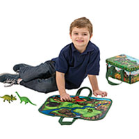 ZipBin Mini Playset with Toys - Dinosaur