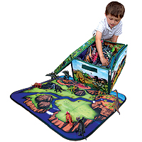 ZipBin Playset Classic with Toys - Dinosaur