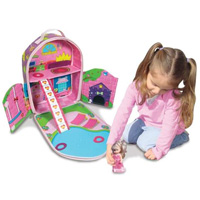 ZipBin Princess Bring Along Doll House Backpack