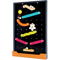 Two Sided Magnetic Marble Run & Chalkboard Set