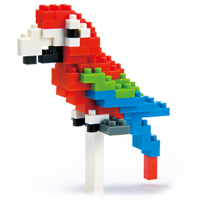 Nanoblock Red and Green Macaw