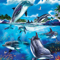 Cobble Hill Family Puzzles Dolphin Family - 400 pc