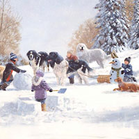 Cobble Hill Famly Puzzles Doggone Winter - 400 pc
