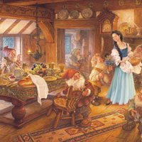 Cobble Hill Family Puzzles Snow White and the Seven Dwarfs - 400 pc