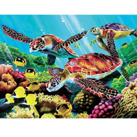 Cobble Hill Puzzle Molokini Turtles - 500 pc