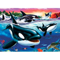 Cobble Hill Puzzle Killer Whales - 500 pc